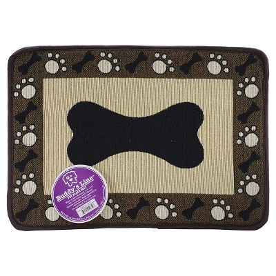 "Buddy's Line Signiture Placemats Black Bone with Border (13""X19"")"