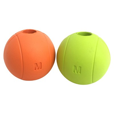 Orange/Lime Dog Toy Balls 2pk - Boots & Barkley™
