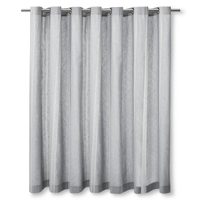 """Linen Stripe Shower Curtain Charcoal (72""""x72"""") - The Industrial Shop™"""