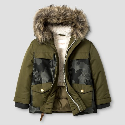 Baby Boys' Camo Parka with Sherpa Lining Baby Cat & Jack™ - Green