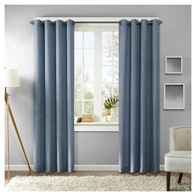 Curtain Panels Blue Solid