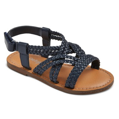 Toddler Girls' Shalyn Braided Straps Sandals Cat & Jack™ - Navy 6