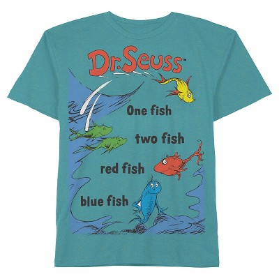 Male Tee Shirts Dr. Seuss Luxe Turquoise 2T