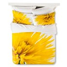 Yellow Spider Mums Duvet Cover Set Yellow&White - Still By Mary Jo™