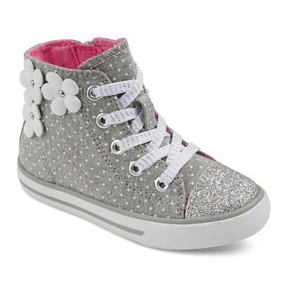 Toddler Girls' Jen Floral Applique High Top Sneakers Cat & Jack™ - Grey 6