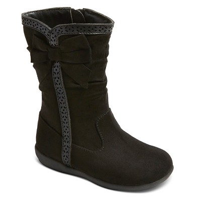 Toddler Girls' Maxine Zip Up Scrunch Boots Cat & Jack™ - Black 5