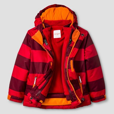 Toddler Boys' Striped 3-in-1 Jacket Cat & Jack™ - Red 2T