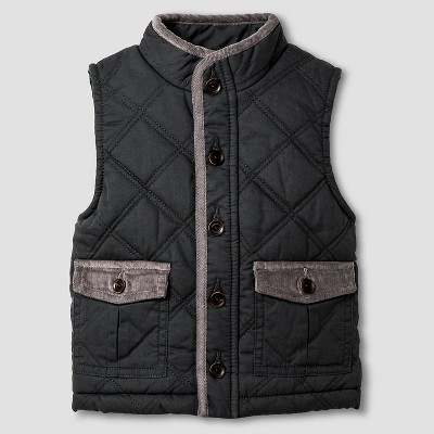 Baby Boys' Fashion Vest - Charcoal Leaf 12M - Genuine Kids™ from Oshkosh®™