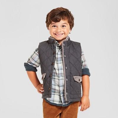 Toddler Boys' Fashion Vest - Charcoal Leaf 3T - Genuine Kids™ from Oshkosh®™
