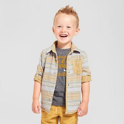 Toddler Boys' Button Down Shirt - Gold Rush 2T - Genuine Kids™ from Oshkosh®