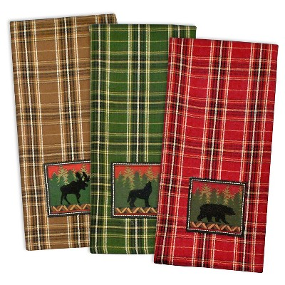 Embroidered Wilderness Dishtowels - Set of 3