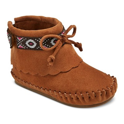 Infant Girls' Genuine Kids from OshKosh Shannon Moccasin Boots - Cognac 4