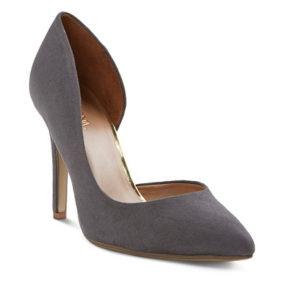 Women's Lainee d'Orsay Pumps - Grey 6 - Merona™