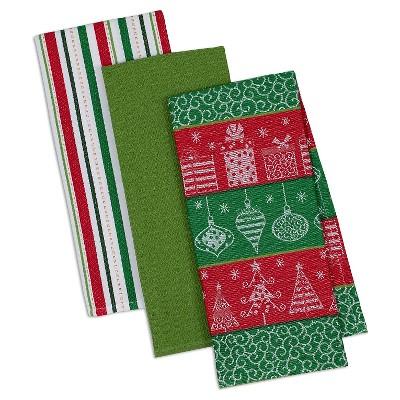 Holiday Trees Dishtowels - Set of 3