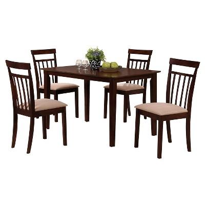 5 Piece Samuel Dining Set Wood/Espresso  - Acme
