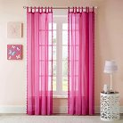 Mila Solid Embellished Cotton Curtain Panel