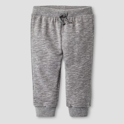 Baby Boys' Slub Jogger Pants Baby Cat & Jack™ - Radiant Grey 6-9M