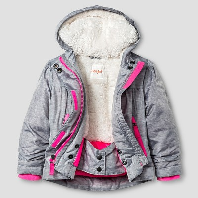 Baby Girls' Tech Jacket with Sherpa Lining Baby Cat & Jack™ - Silver