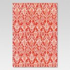 7' x 10' Outdoor Patio Rug Ikat Red - Threshold™