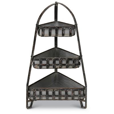 Foreside Home & Garden Lattice 3-Tiered Etagere - Black