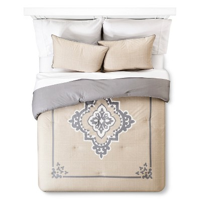 Architectural Tile Comforter Set Queen Tan - The Industrial Shop™