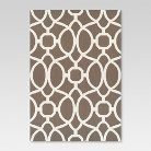 7'x10' Outdoor Rug - Taupe Trellis - Threshold™