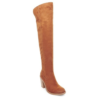 Women's dv Marilyn Over the Knee Fashion Boots - Saddle Brown 7.5