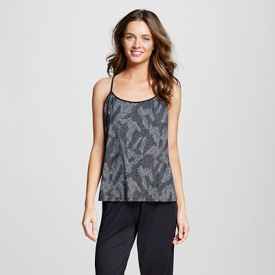 Women's Pajamas Printed Cami Black XL - Gilligan & O'Malley™