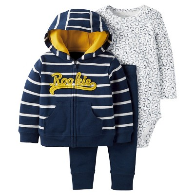 Just One You™Made by Carter's® Baby Boys' 3 Piece Rookie Set - Navy - 6M