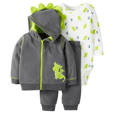 Just One You™Made by Carter's® Baby Boys' 3 Piece Dragon Set - Navy/Lime - NB