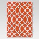 5'x7' Outdoor Rug - Orange Trellis - Threshold™
