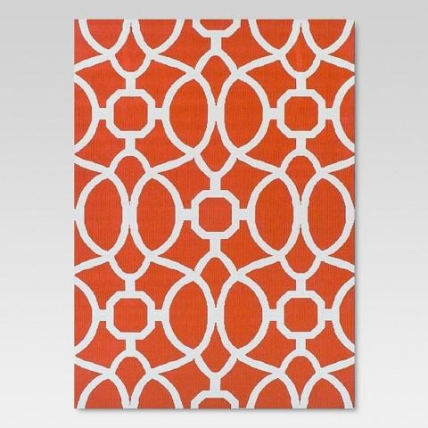 Orange Trellis Outdoor Rug Threshold™ Tar