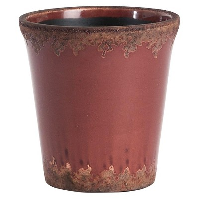 "Mauve Crackled Cachepot - 6"" dia.x 6""T - Set of 2 pcs"