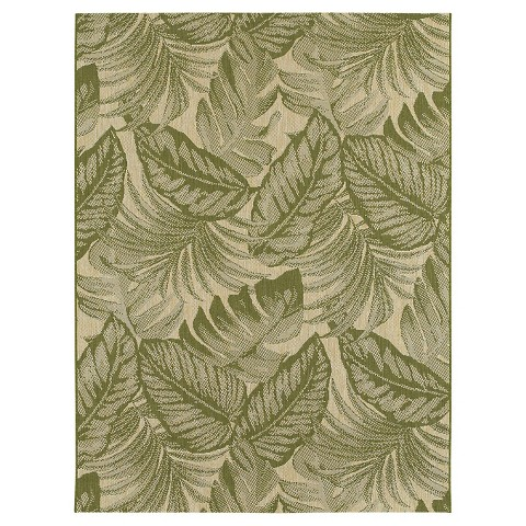 Tropical Leaves Green Outdoor Rug Threshold™ Tar