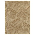 7'x10' Outdoor Rug - Tropical Leaves Neutral - Threshold™