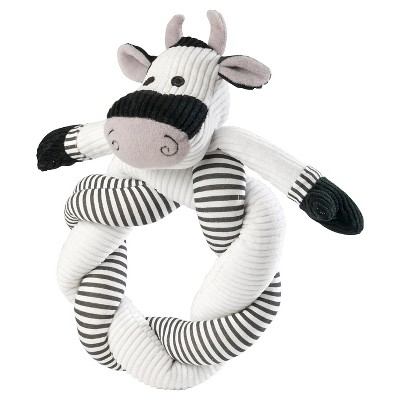 House of Paws Barnyard Cow Twisty Dog Toy