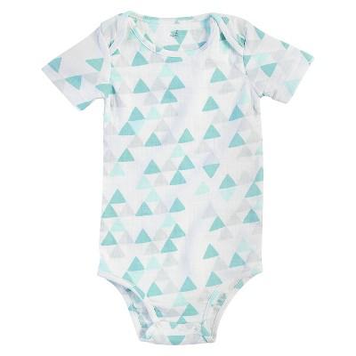 Aden + Anais® Baby Geo Triangle Bodysuit - White/Turquoise 0-3M