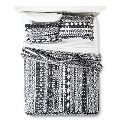Quilt Set Mudhut FULL/QUEEN Black