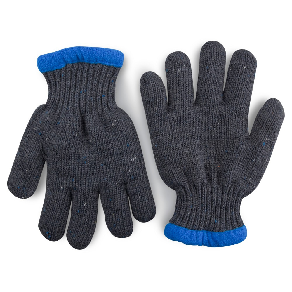 Boys' Gloves Cat & Jack - Charcoal (Grey) 4-7, Men's