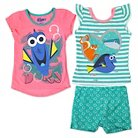 Finding Dory Toddler Girls' Top And Bottom Set 4T - Aqua