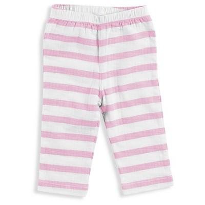 Aden + Anais® Baby Girls' Stripe Kimono Pant - Pink 0-3M