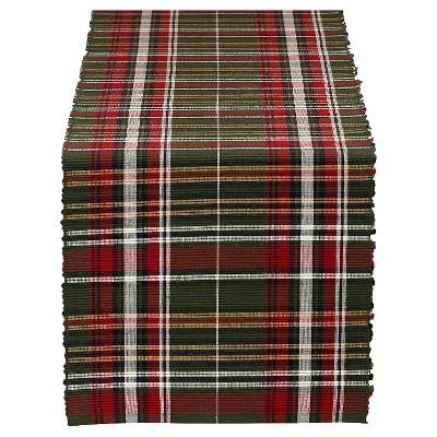 Table Runner Forest Ridge Plaid - Design Imports