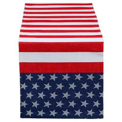 Table Runner Jacquard Flag Stripe - Design Imports