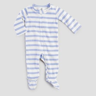 Aden + Anais® Baby Boys' Long-Sleeve Stripe Coverall - Blue/White 6-9M