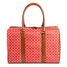 Bueno of California Women's Print Weekender Handbag - Coral/White
