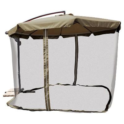 UPC 839913019560 Product Image For Patio Umbrella: 11u0027 Offset Patio Umbrella  With Mosquito Net