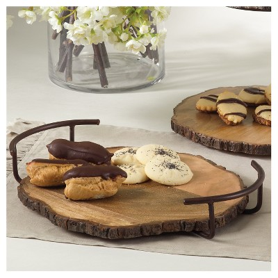 "Wood Serving Tray - 14""W"