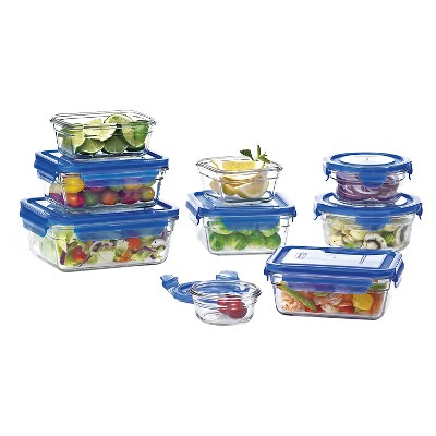 Glasslock 18-Piece Assorted Glass Storage Box Set