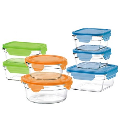 Glasslock 14-Piece Assorted Glass Storage Box Set