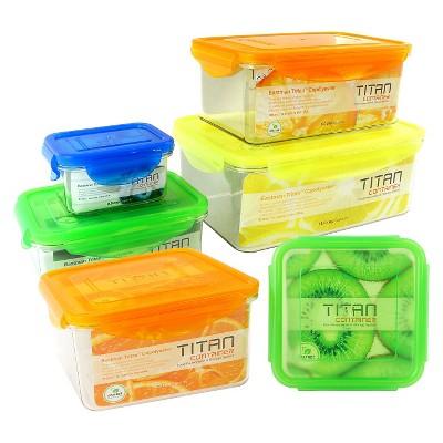 Titan 12-Piece Assorted Storage Box Set - Rectangle and Square